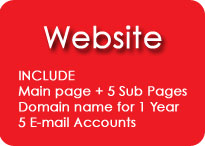 WEBSITE Include Main page + 5 Sub Pages, Domain name for 1 Year, 5 E-mail Accounts